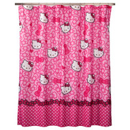 Hello Kitty Allover Fabric Shower Curtain