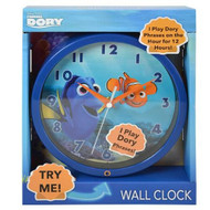 "Finding Dory 8"" Musical Wall Clock in Open Box with Try Me"