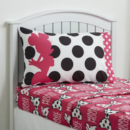"Disney Minnie Mouse ""All About Dots"" Twin Sheet Set"