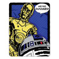 "Lucas Films Star Wars, ""Doomed"" Fleece Throw"