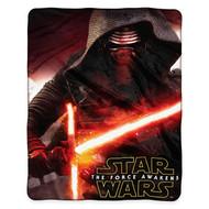 """Star Wars Episode VII: Force Awakens """"Aftermath"""" Royal Plush Raschel Throw Blanket"""