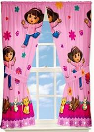 Dora The Explorer 'Dora Pets' Curtain Panels
