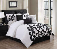 Duchess Californian King Size Black and White 9-Piece Comforter Set