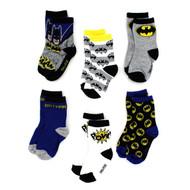 Batman Boys 6-Pack Crew Socks