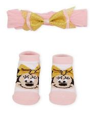 "Minnie Mouse Baby Girls ""Tu-Tu Cute"" Headwrap & Booties Set"