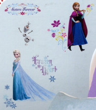 Frozen Anna and Elsa 'Sisters Forever' Wall Decals