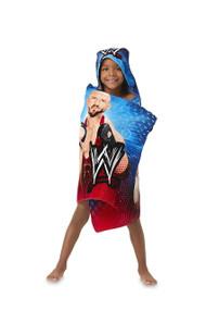 WWE Blue/Red 'W' Hooded Bath Towel Wrap
