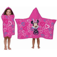 Minnie Mouse 'Classic Hearts' Hooded Towel Wrap