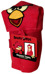Angry Birds 'Red' Hooded Poncho Towel