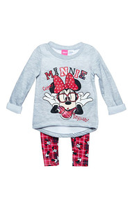 Minnie Mouse 'Gray' Sweater and Leggings Set