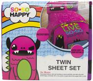 So♥So Happy Twin Size Sheet Set