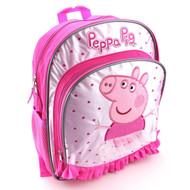 "Peppa Pig 14"" Pink Backpack"