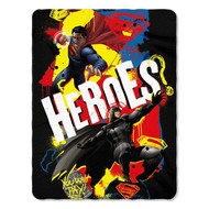 "Dawn of Justice ""Super Heroes"" Fleece Throw Blanket"