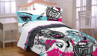 Monster High Full Comforter, Shams, and Bedskirt
