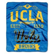 NCAA UCLA Bruins Royal Plush Raschel Throw