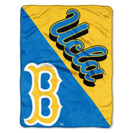 NCAA UCLA Bruins Halftone Raschel Throw Blanket