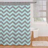 Ryder 'Aqua/Grey' Shower Curtain