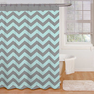 Ryder 'Aqua/Grey' Shower Curtain