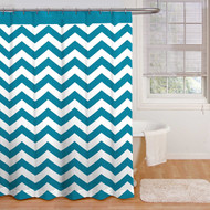 Ryder 'Peacock Blue/White' Shower Curtain