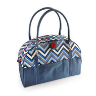 2 Red Hens 'Blue Chevron' Coop Carry-All Diaper Bag