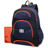 Diaper Dude Sport Backpack Diaper Bag - Navy/Black Colorblock