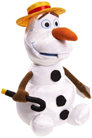 Disney Frozen Straw Hat Olaf Plush