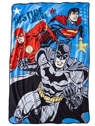 Justice League Micro Raschel Blanket