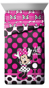 Disney Minnie Mouse 'All About The Dots' Reversible Twin Comforter