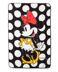 Minnie Mouse 'Rock the Dots' Plush Blanket