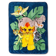 The Lion Guard Gang Plush Throw