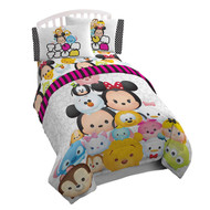 "Disney Tsum Tsum ""Faces"" Reversible Twin Comforter"