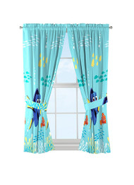 Disney/Pixar Finding Dory 'Swim Fins' Curtains Drapes
