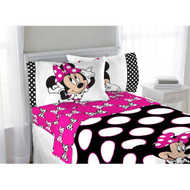Disney Minnie Mouse 'Dots Are The New Black' Full Sheet Set