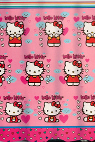 Hello Kitty 'Fluttering Hearts' Fabric Shower Curtain