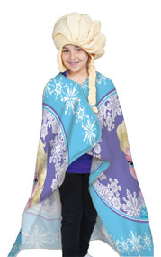 Disney Frozen Elsa Hat & Throw Wrap Set by Hoodiwinks