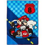 Super Mario Bros. MarioKart 8 'We Own the Road' Plush Blanket