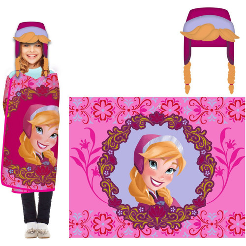 Disney Frozen 'Anna' Hat & Throw Wrap Set by Hoodiwinks