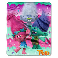 "Trolls, ""Jungle Party"" Silk Touch Throw – by The Northwest Company"