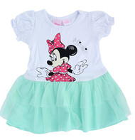 Disney Minnie Mouse Toddler Dress with Tulle (Aqua Green)