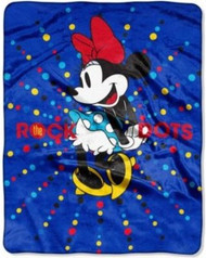 Disney Minnie Mouse 'Rock the Dots' Silky Soft Throw