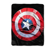 Avengers 'Captain America Shield' Silky Soft Throw