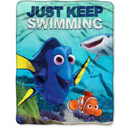 Finding Dory 'Just Keep Swimming' Silky Soft Throw