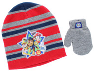 Paw Patrol Toddler Beanie Hat & Mittens Set (Red)