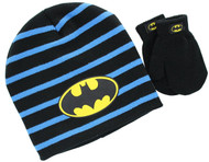 Batman Toddler Knit Hat and Mittens Set (Black)