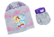 Disney Princess Toddler Winter Hat & Mitten Set (Gray)