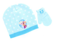 Disney Frozen Toddler Winter Hat & Mitten Set (Blue)