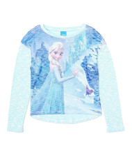 Disney Frozen 'Anna and Elsa' Lightweight Sweater (Blue)