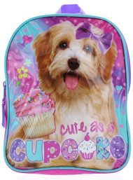 "Puppy ""Cute as a Cupcake""  Mini Toddler 10"" Backpack"