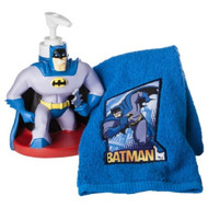 Batman Lotion Pump & Fingertip Towel Set