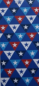 Red, White and Blue Star Beach Towel